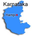 Hampi i Karnataka, Indien