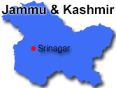Kashmirdalens placering i Indien
