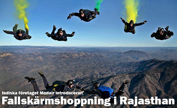 Fallskärmshoppning (och mer) i Neemrana, Rajasthan, Indien