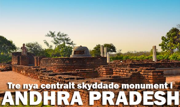 3 nya monument får statligt stöd i Andhra Prades, Indien