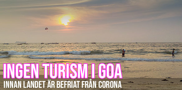 Ingen turism på Goas stränder