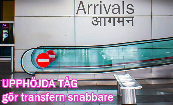 Upphöjda lufttåg Delhi flygplats (IGI)